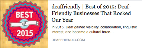 Deaf Friendly Award!